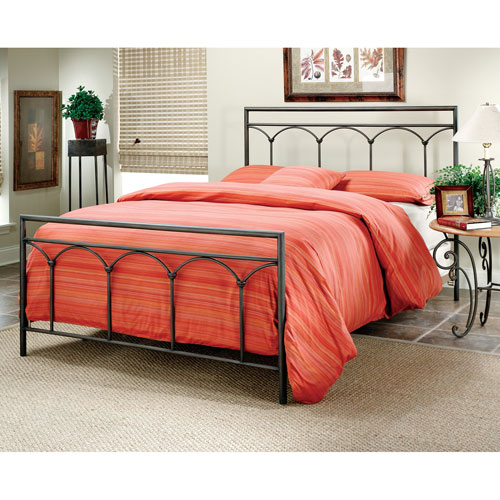 Mckenzie Brown Steel Queen Complete Bed