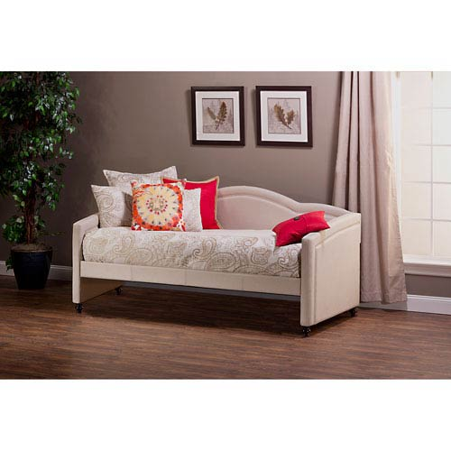 Hillsdale Furniture Jasmine 30.52-Inch Daybed with Linen Stone