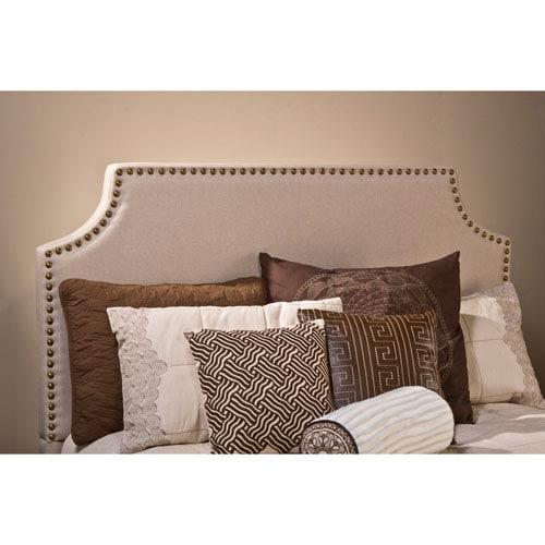 Hillsdale Furniture Dekland Linen Stone Queen Headboard with Rails