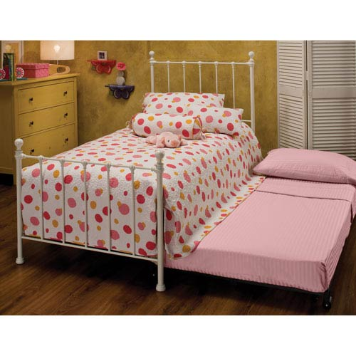 Molly White Twin Complete Bed with Trundle