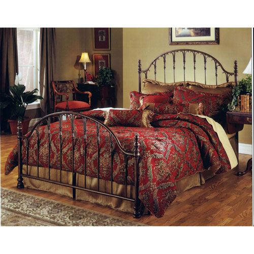 Tyler Antique Bronze Queen Complete Bed