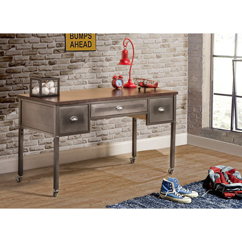 Urban Quarters Black Steel Desk