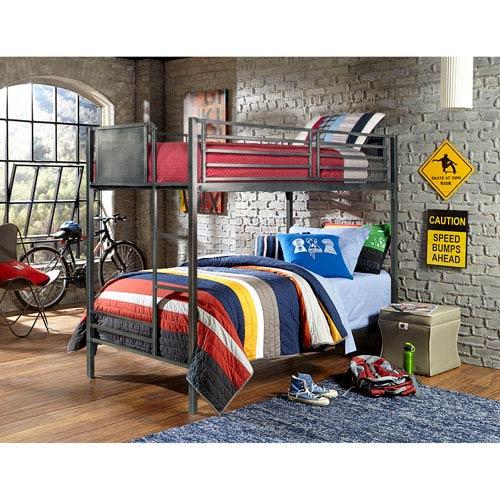 Urban Quarters Black Steel Twin Bunk Bed
