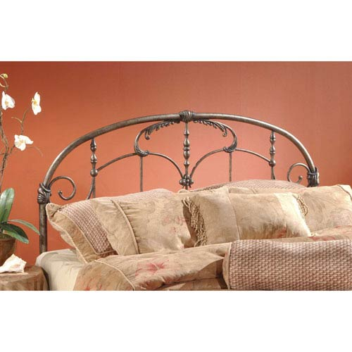 Jacqueline Old Brushed Pewter King Headboard Only