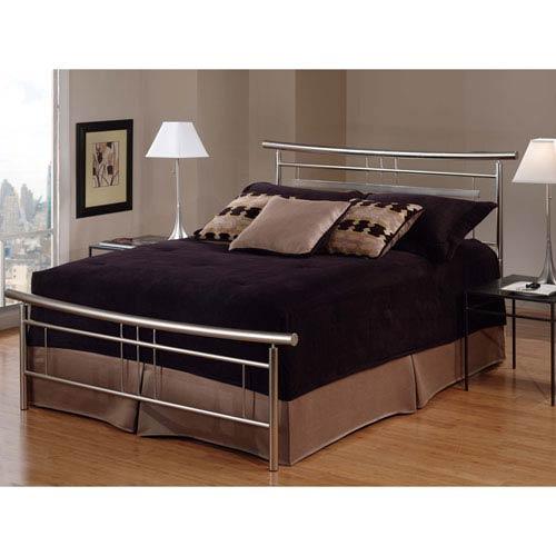 Soho Brushed Nickel Queen Complete Bed