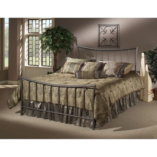 Edgewood Magnesium Pewter Queen Complete Bed