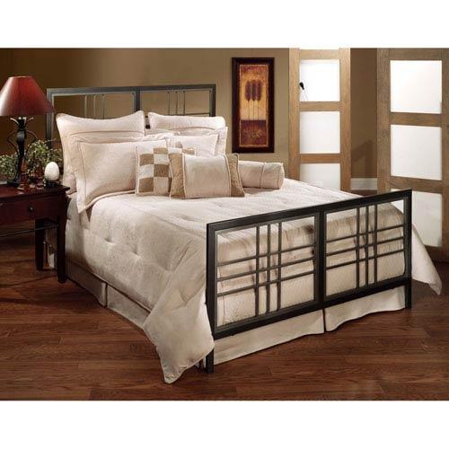 Tiburon Magnesium Pewter Queen Complete Bed