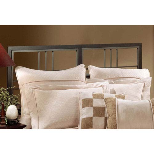 Tiburon Magnesium Pewter King Headboard and Bed Frame