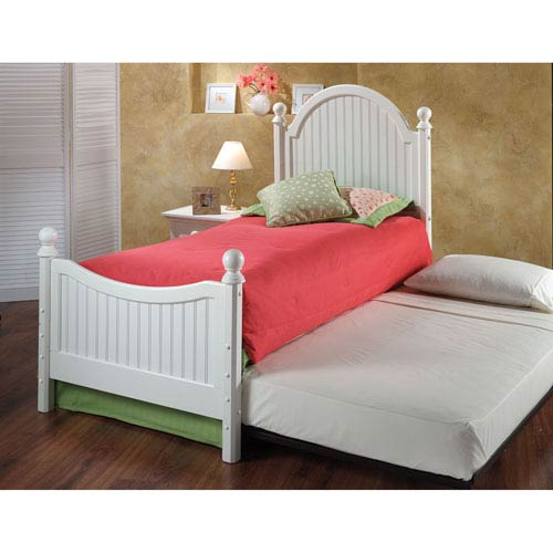 Westfield Off White Twin Complete Bed with Trundle