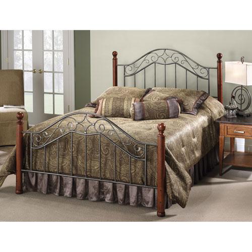 Hillsdale Furniture Martino Smoke Silver Queen Complete Bed