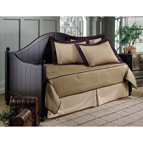 Augusta Rubbed Black Daybed with Roll-Out Trundle