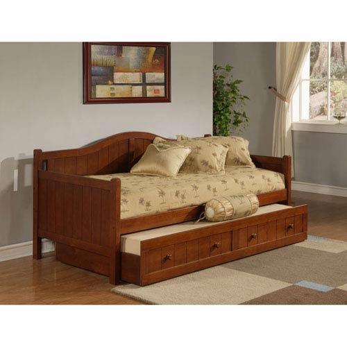 Staci Cherry Daybed with Roll-Out Trundle