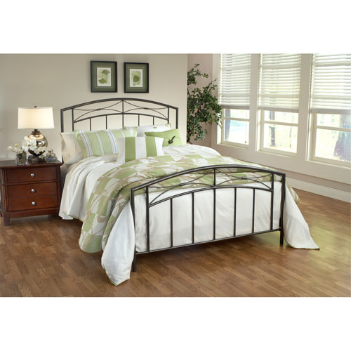 Hillsdale Furniture Morris Magnesium Pewter Queen Complete Bed