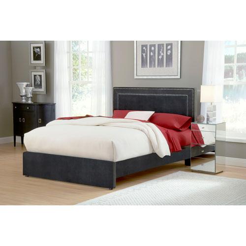 Amber Pewter Queen Platform Bed Set