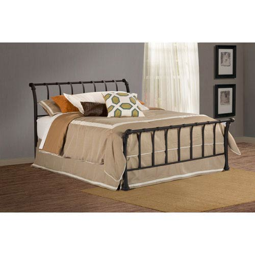 Janis Textured Black Full Bed Set without Rails