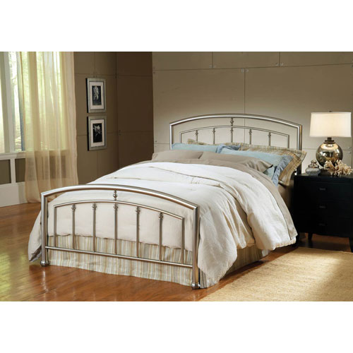Claudia Bed Matte Nickel King Complete Bed