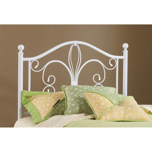 Ruby Textured White Twin Headboard Only