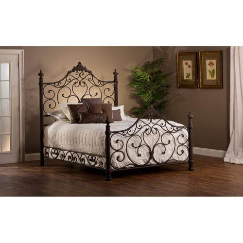 Baremore Antique Brown Queen Complete Bed With Rails