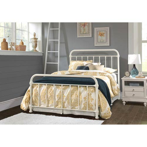 Kirkland Queen Bed Set with Bed Frame - Soft White
