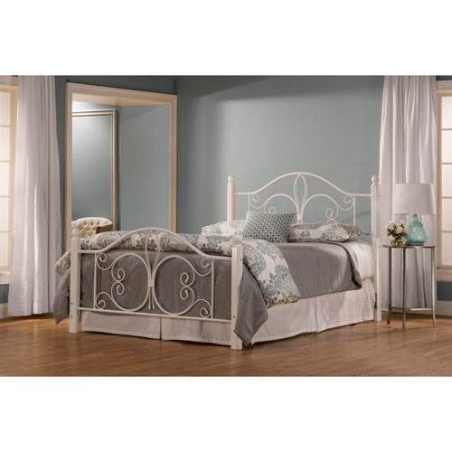 Ruby White Twin Complete Bed Set