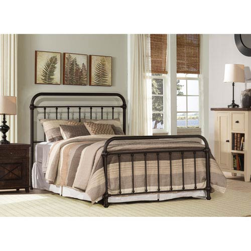 Kirkland King Bed Set with Bed Frame - Dark Brown