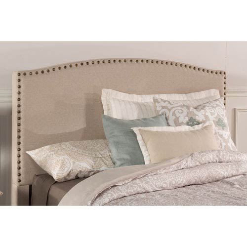 Kerstein Light Taupe Fabric Twin Headboard Only