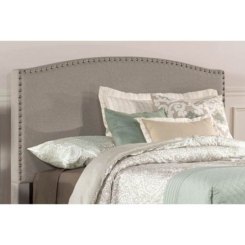 Kerstein Dove Gray Fabric Queen Headboard Only