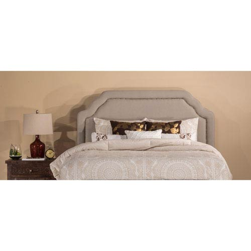 Hillsdale Furniture Carlyle Light Taupe Fabric Queen Headboard Only