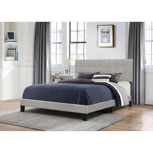 Hillsdale Furniture Delaney Full Bed in One - Glacier Gray Fabric