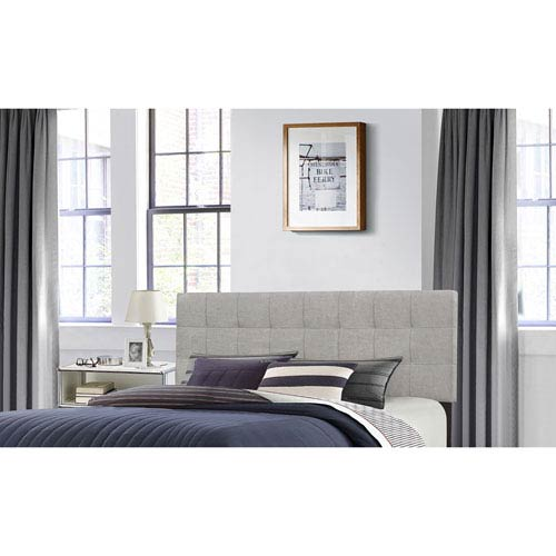 Hillsdale Furniture Delaney Full/Queen Headboard with Frame - Glacier Gray Fabric