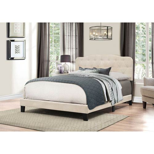 Hillsdale Furniture Nicole King Bed in One - Linen Fabric