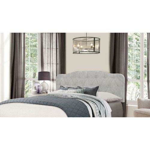 Hilale Furniture Nicole King Headboard Without Frame Glacier Gray Fabric