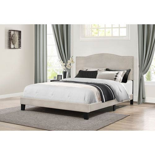 Kiley Queen Bed in One - Fog Fabric