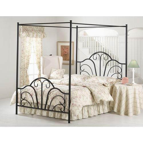 Dover Textured Black Queen Complete Bed