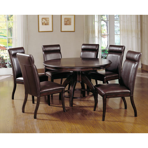 Hillsdale Furniture Nottingham Dark Walnut Dining Table And Six Chairs