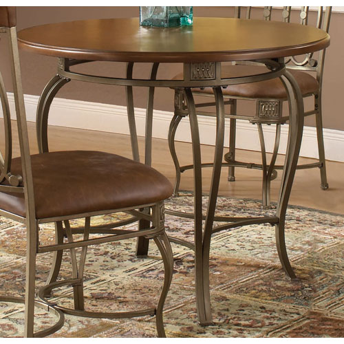 Montello Old Steel 36-Inch Round Dining Table