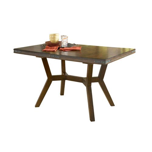 Hilale Furniture Arbor Hill Colonial Chestnut Extension Counter Height Gathering Table