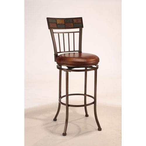 Montero Copper Metal Swivel Barstool