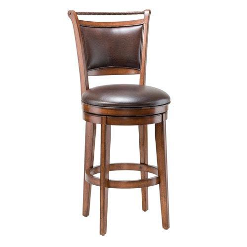 Hillsdale Furniture Calais Medium Brown Cherry Swivel Bar Stool