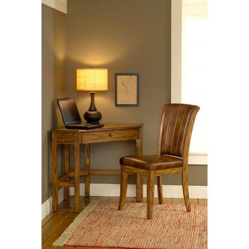 Solano Medium Oak Corner Desk Table with Chair