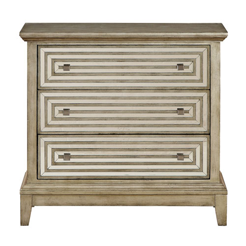 251 First Vivian Taupe Three Drawer Chest