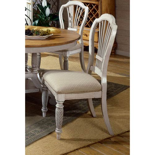 Wilshire Antique White Dining Side Chair, Set of Two