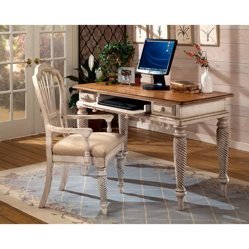 Wilshire Antique White Desk