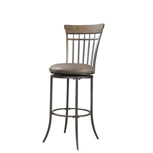 Hillsdale Furniture Charleston Desert Tan Vertical Spindle Back Bar Stool