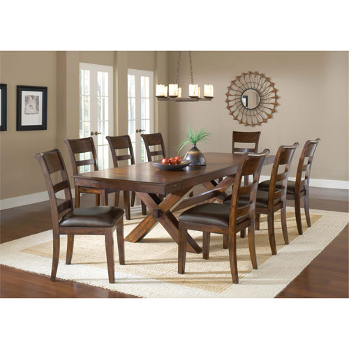 Park Avenue Dark Cherry 9-Piece Dining Set