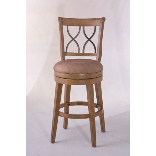Reydon Weathered Taupe Swivel Counter Stool