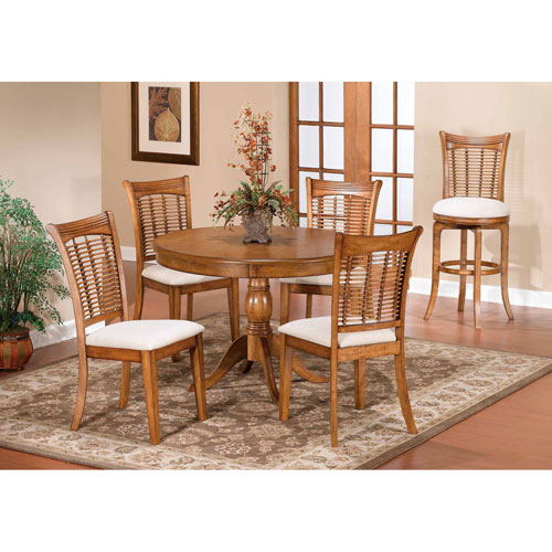 Bayberry Oak 44-Inch Round Table with Chairs