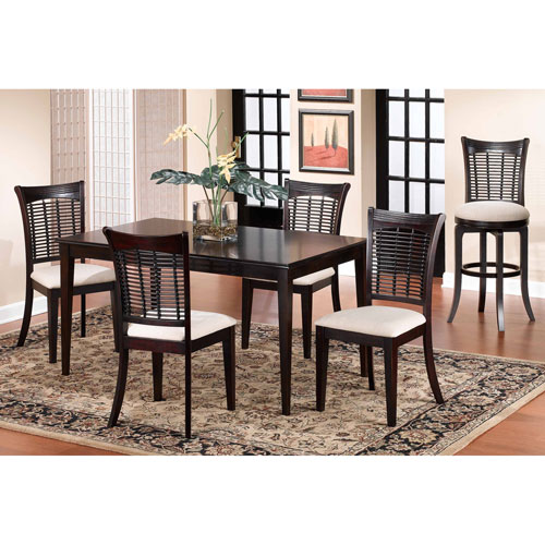 Bayberry Dark Cherry 36 x 60 Rectangle Table with Chairs