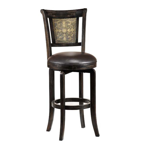 Camille Black Swivel Counter Stool