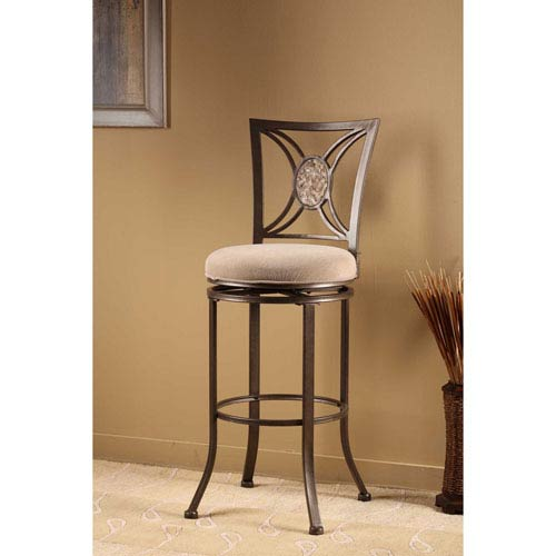 Hillsdale Furniture Rowan Silver Brown Swivel Counter Stool